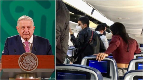 President of Mexico travels by commercial plane and passengers start insulting him (video)
